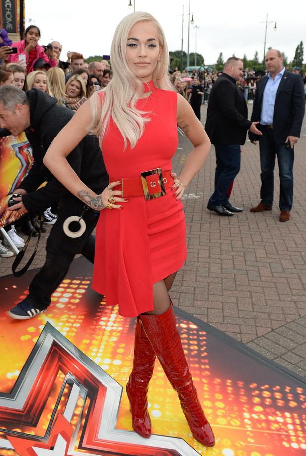 Rita Ora gjatë xhirimit të Audicioneve